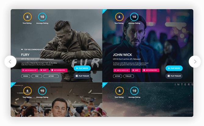 Recommendation Example | Get TV Show & Movie recommendations based on your own taste profile