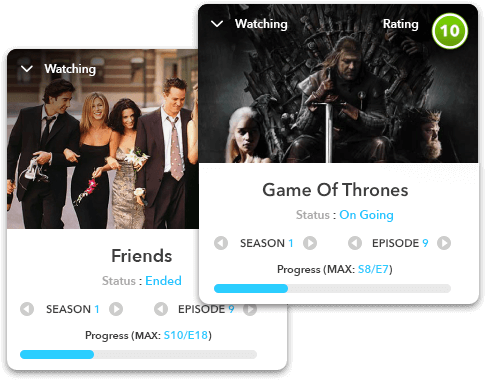TV Show Tracker Example | Never forget which episode you're at, when always know when episodes come out and what you can watch!